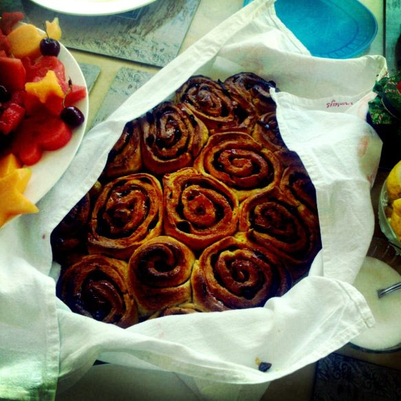 Yellow Cherry & Sultana Scrolls